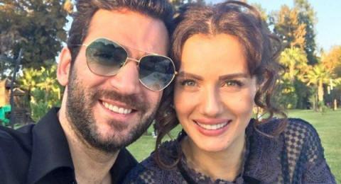 مراد يلدريم وزوجته إيمان الباني في إعلان مشترك