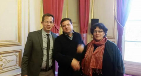 عودة يلقى محاضرة في مجلس الشيوخ الفرنسي
