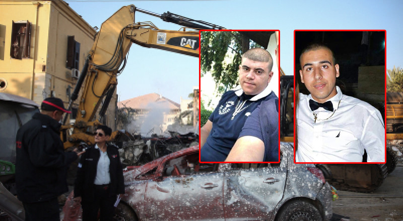 علي ابو جامع وريمون خوري ضحيتا انفجار مبنى يافا ليلة امس