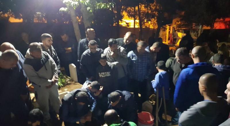 ام الفحم تشيع ابنها ملاحة ضحية حادث العمل