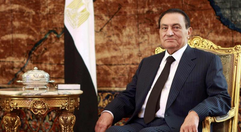 حسني مبارك قبل توطين فلسطينيين بمصر