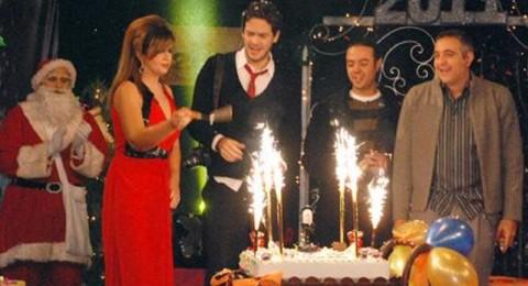 بوسي شلبي تكرم غادة عبدالرازق ونجوم ليلة رأس السنة
