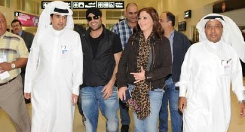 إليسا ووائل يصلان  للعاصمة القطرية الدوحة