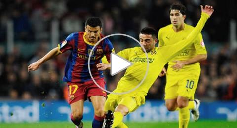 برشلونة ينتزع فوزاً صعباً من فياريال
