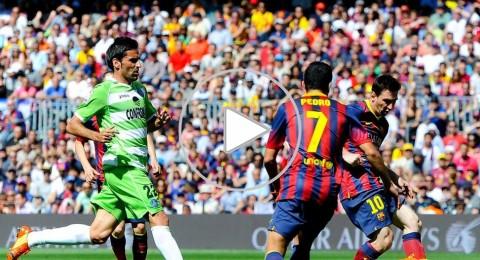 برشلونة يبتعد عن اللقب بتعادله امام خيتافي