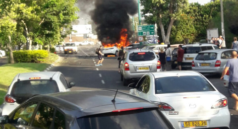 كريات حاييم: انفجار سيارة ومصاب بصورة بالغة