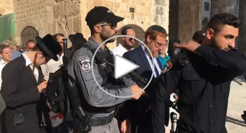 المتطرف يهودا غليك يقتحم الاقصى بحماية الشرطة ورفقة المستوطنين