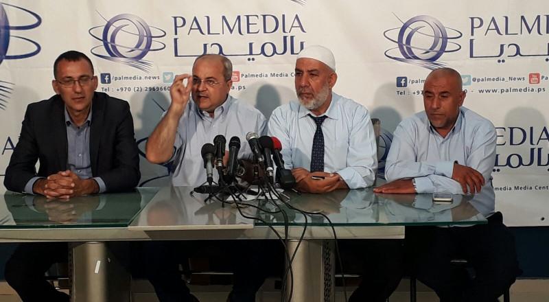 القدس: مؤتمر صحفي يؤكد رفض اقتحام نواب اليمين للمسجد الاقصى