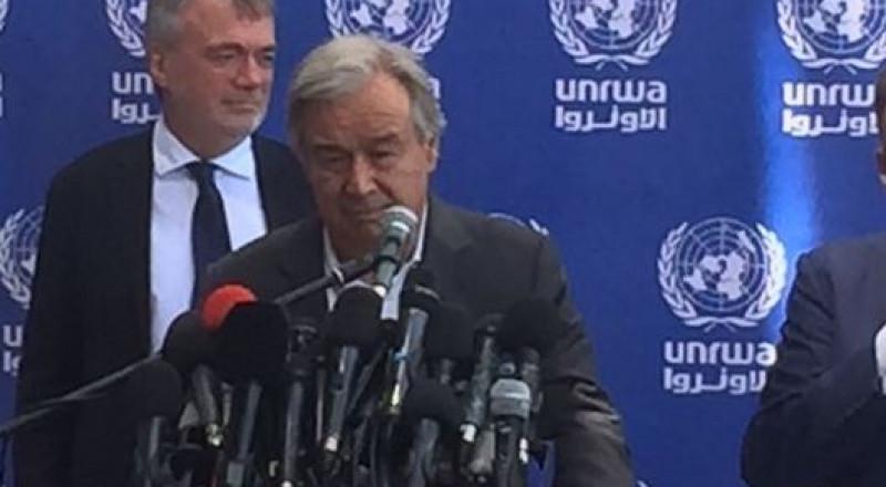 غوتيريش: أحلم بدولة فلسطينية تكون غزة جزءا منها