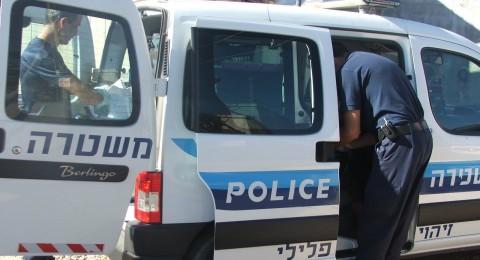 اعتقال شابين من كفر قرع بشبهة محاولة سرقة سيارة