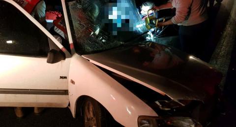 اصابة شخصين من حرفيش بحادث خطير بالقرب من فسوطة