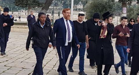 المتطرف غليك يقتحم المسجد الأقصى