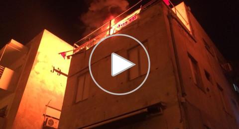 احتراق مقر الجبهة في تل أبيب والتحقيق ما إذا كان متعمّدًا