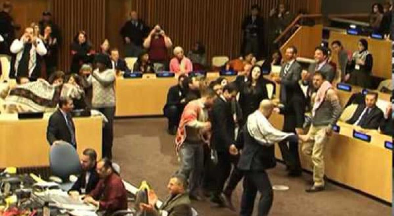 الدبكة الفلسطينية في الأمم المتحدة