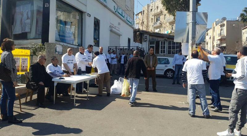 لجنة الدفاع عن اوقاف حيفا تودع مبلغ إضافيّ نحو تحرير مقبرة الاستقلال