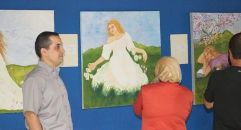 ام الفحم: افتتاح المعرض الفني
