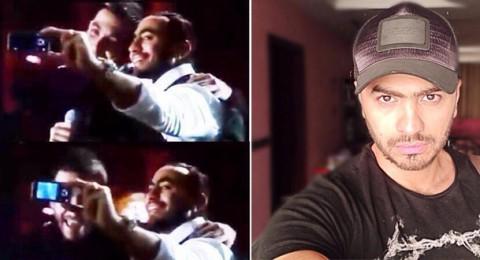 تامر حسني أول من إخترع وإلتقط صورة Selfie