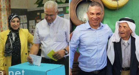 سخنين غنايم وأبو ريا يدليات بأصواتهم في مراكز الاقتراع