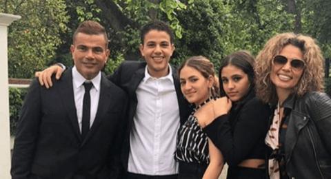 بعد الخلافات والشائعات: عمرو دياب يلم شمل عائلته