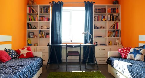 شروط في ديكورات غرف نوم الأطفال المتقاربين في العمر