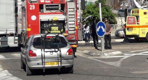 حادث طرق قرب مصمص... وأزمة مروريّة خانقة في شارع 65