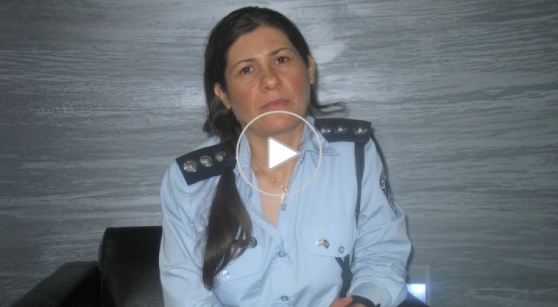 الضابطة لوبا سمري الناطقة بلسان شرطة اسرائيل