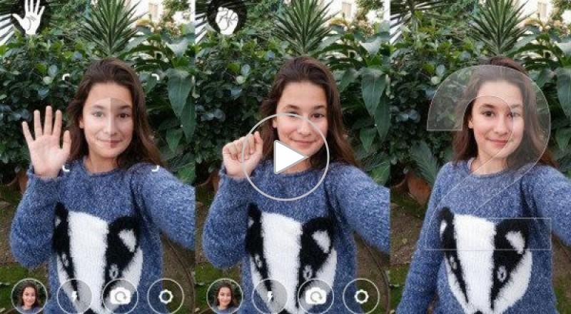 التقاط صور سيلفي Selfie بتحريك اليد فقط في أندرويد