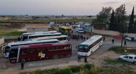 وصول 42 مخطوفا من اشتبرق ومرضى من كفريا والفوعة إلى جنوبي حلب