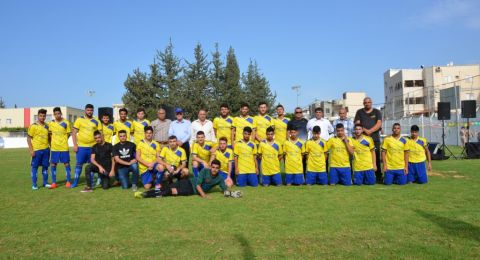 نهضة كروية مباركة في أبوسنان ، تتوج بافتتاح رائع للملعب البلدي