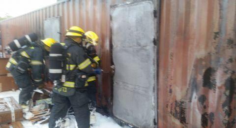 حريق في مخزن بجولس وآخر في شقة بشفاعمرو .. دون وقوع إصابات