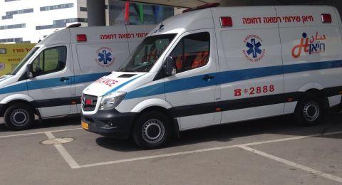 دير الاسد:اصابة حرجة لشاب (30 عاما) جراء سقوط جسم ثقيل على رأسه
