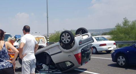 حادث طرق بالقرب من مفترق ابطن