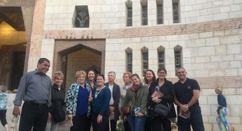 جمعية الناصرة تستضيف مجموعة وكلاء سياحة من العالم