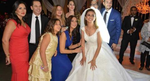 عائلة عادل امام والنجوم يجتمعون بزفاف ابن شقيقته