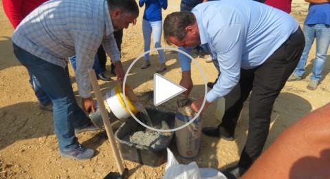 وضع حجر الأساس لملعب كرة القدم في عرابة بمشاركة رئيس البلدية