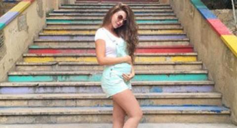 ميريام فارس توقف أنشطتها الفنية بسبب الحمل