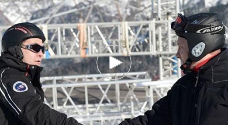 بوتين ومدفيديف يتفقدان جاهزية المنشآت الأولمبية في سوتشي