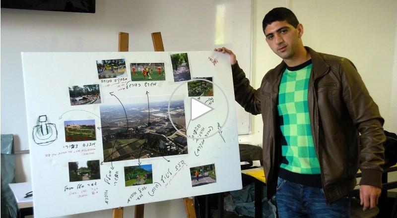 ورشة عمل لطلاب جامعيين من الطيبة وقلنسوة حول المزبلة الغربية