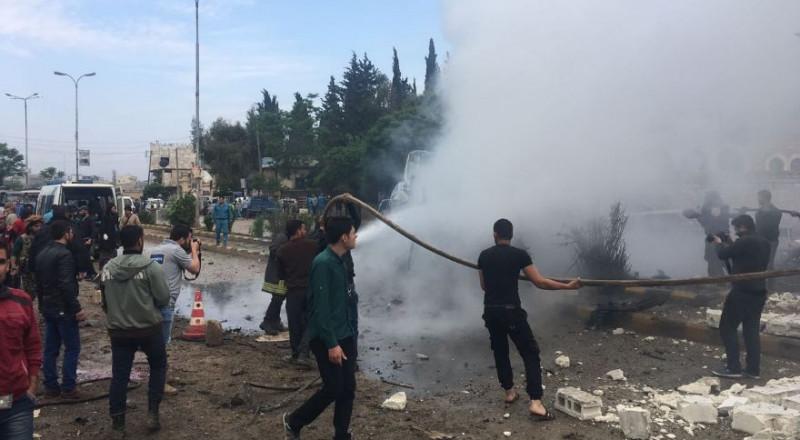 شهداء وجرحى بانفجار مفخخة في اعزاز بريف حلب