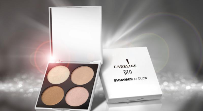 CARELINE Pro - Shimmer & Glow طقم لمكياج برّاق بامتياز .. لإضاءة ملامح الوجه بتقنيّة مهنيّة