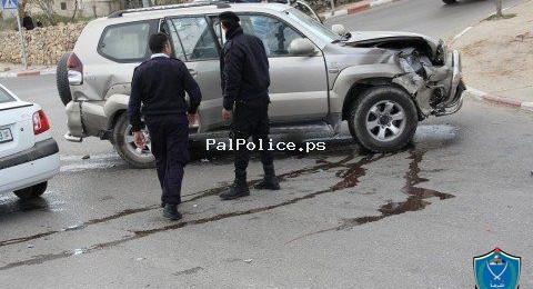 الضفة الغربية: مصرع شخص و 145إصابة في 221 حادث سير الاسبوع الماضي