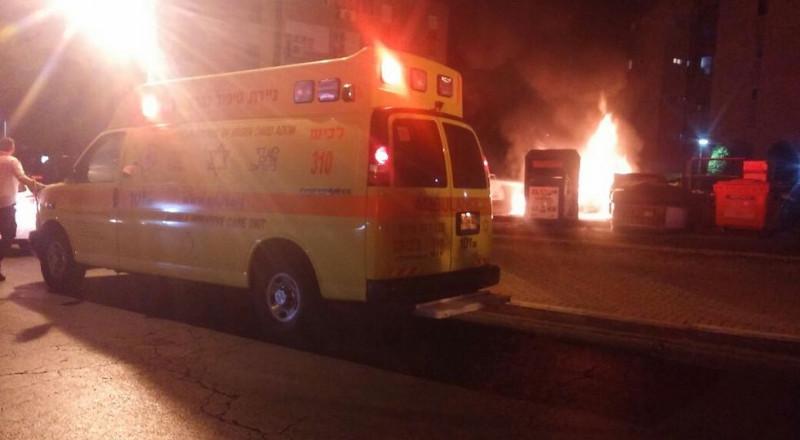 عيلبون : احتراق مقهى اراجيل واصابة شخصين