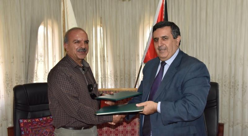 التوقيع على إتفاقية لإنشاء وإدارة وتشغيل حديقة عامة على ما تبقى من قطعة أرض بطريركية الأرمن الأرثوذكس في بيت لحم