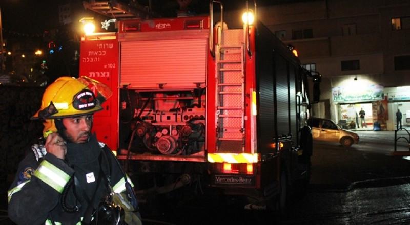 اصابة شخص جراء حريق في مخزن سوبر ماركت بالعفولة