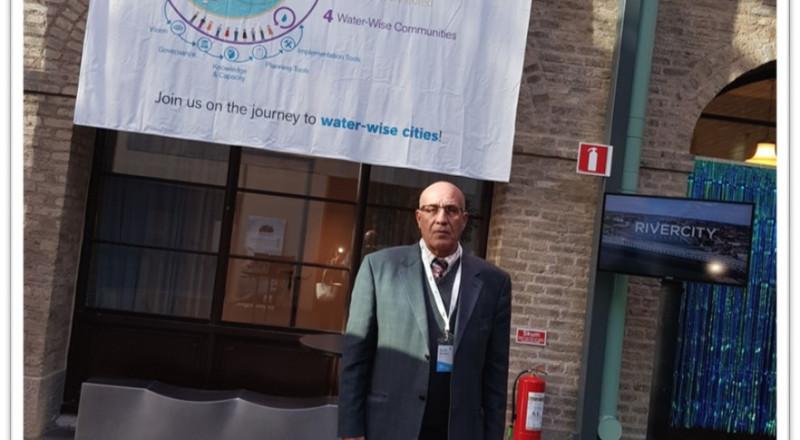 مصطفى أبو ريّا يشارك في أعمال مؤتمر منظمة المياه العالمية في السويد