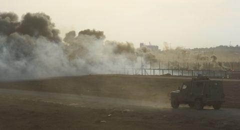 شهيدان أحدهما طفل وعشرات الإصابات جراء قمع الاحتلال لمسيرات العودة شرق القطاع