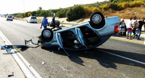 اصابة سيّدتان إثر حادث طرق قرب ام الفحم