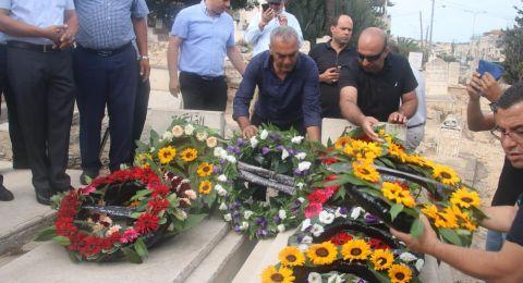 سخنين: زيارة أضرحة الشهداء ووضع أكاليل الورد والزهور