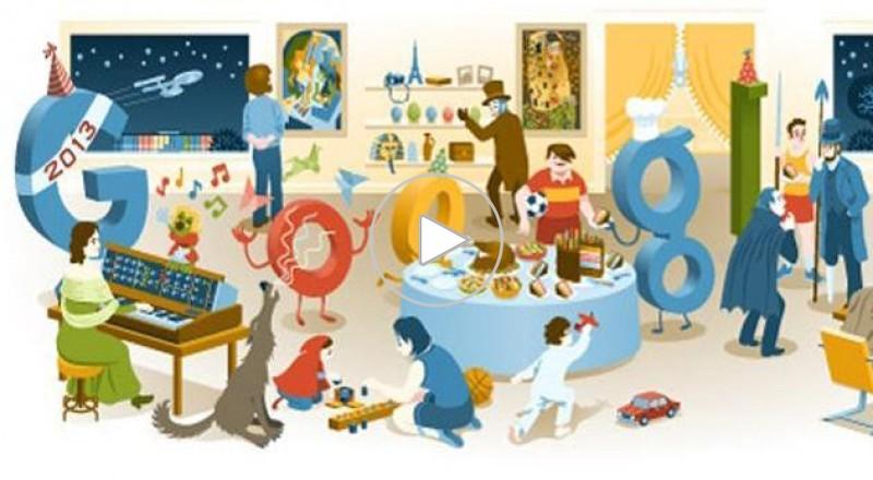 كيف احتفلت جوجل بالسنة الجديدة؟!