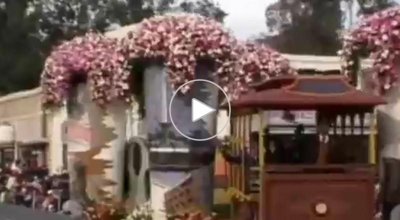 مسيرة الزهور في كاليفورنيا